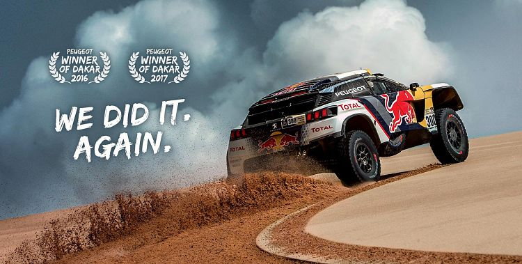 We did it again! Peugeot wins Dakar 2017